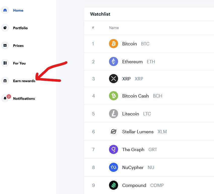 Coinbase free crypto rewards
