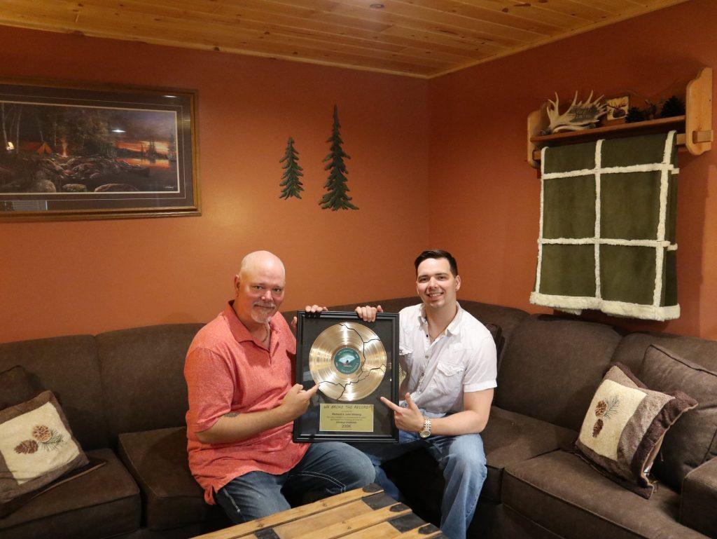 Richard and John Weberg 200K broken record award